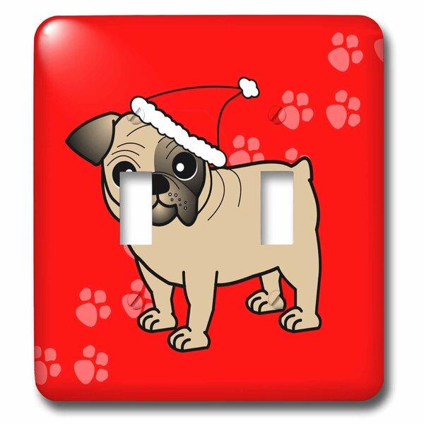 3drose Cartoon Dog With Santa Hat 2 Gang Toggle Light Switch Wall Plate Wayfair
