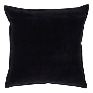 Wert Decorative with Solid Velvet Design Cotton Throw Pillow