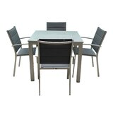 Patrica Outdoor 5 Piece Dining Set