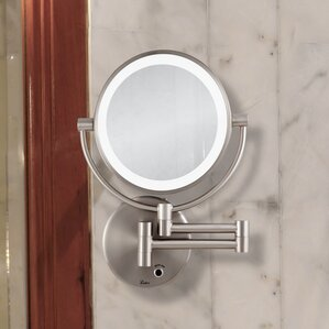 Wall Mounted Mirror makeup & shaving mirrors you'll love | wayfair