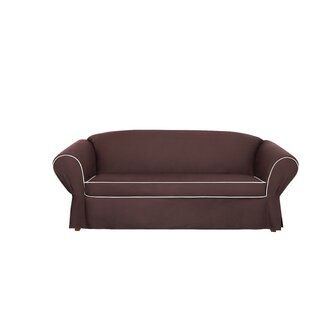 Tailored Box Cushion Sofa Slipcover