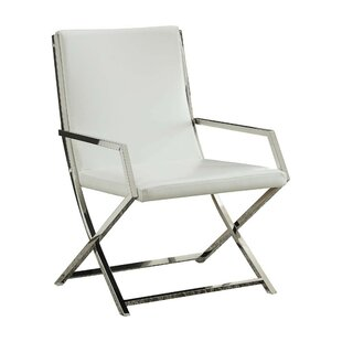 Singh High Backrest Polyurethane Upholstered Metal Armchair