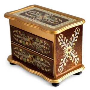 Unique Reverse Painted Glass Jewelry Box by Novica
