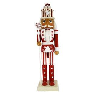 """Soldier Nutcracker Silver White Sword Wood Decor Christmas 15/"""" Kurt Adler Gift"""