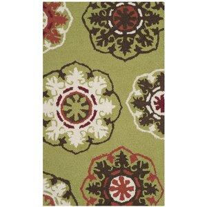 Barnett Hand-Tufted Green/Brown Area Rug