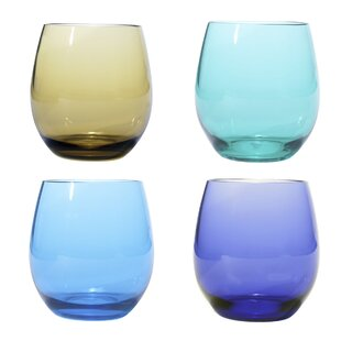 4-Piece 18 oz. Plastic Stemless Wine Glass Set (Set of 4)