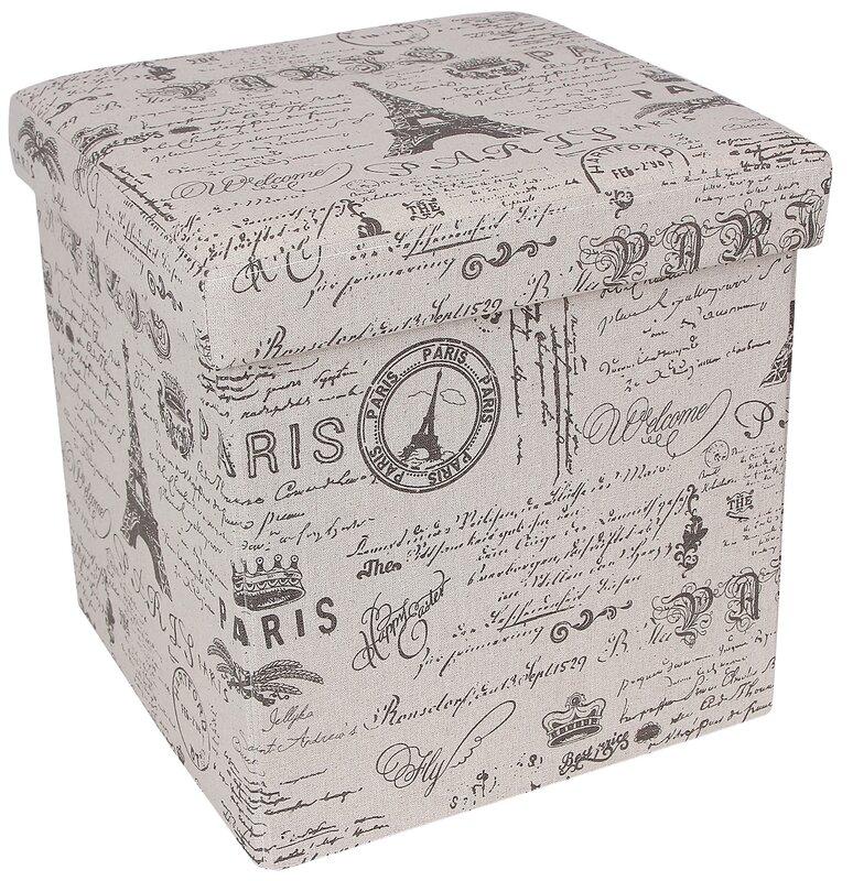 default_name - Songmics Paris Effiel Tower Storage Cube Ottoman & Reviews Wayfair
