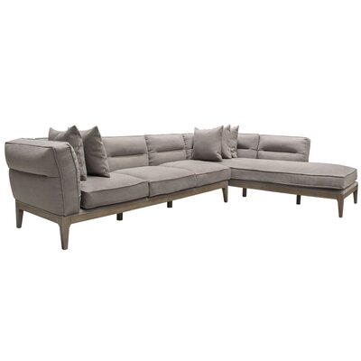 Eden Right Hand Facing Sectional Diamond Sofa