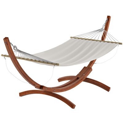 Beachcrest Home Grissom Free-Standing Hammock with Stand Color: White