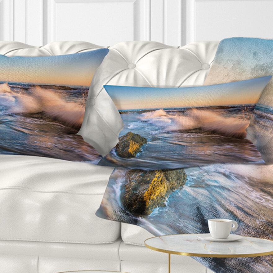East Urban Home Seascape Crashing Waves At Victoria Beach Lumbar Pillow Wayfair Ca