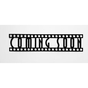 Coming Soon Sign in Film Font Home Theater Metal Wall Du00e9cor
