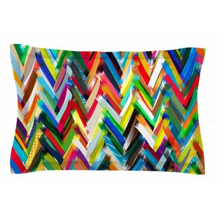 Frederic Levy-Hadida 'Chevrons' Sham by East Urban Home Cool
