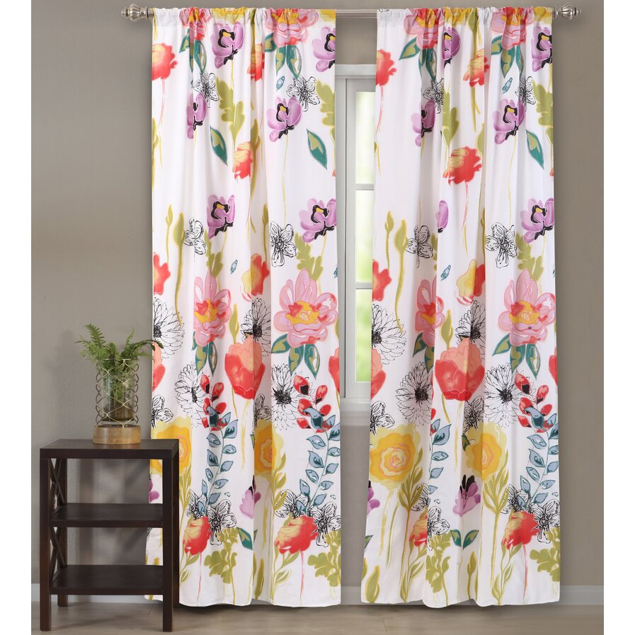 sheer rod pocket wayfair