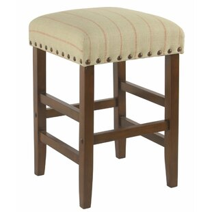 Elicia Wooden 24.5 Bar Stool by August Grove