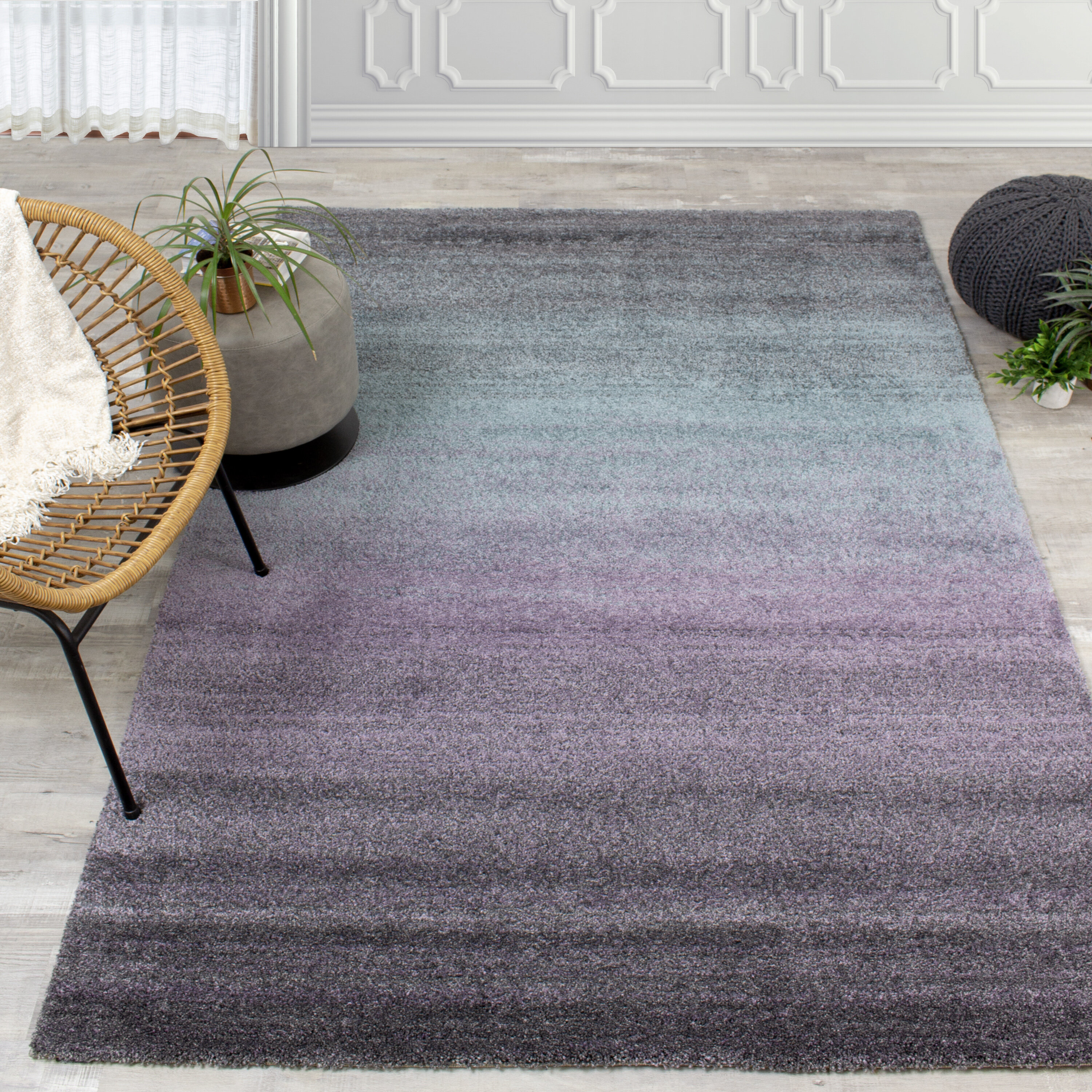 Aubuchon Gray Purple Area Rug