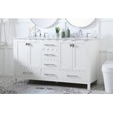 Stela 60 Double Bathroom Vanity Set by Brayden Studio®