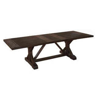 Stalvey Extendable Solid Wood Dining Table Millwood Pines