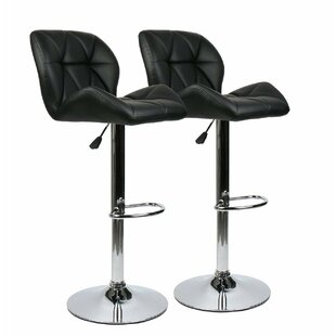 Ferrer Modern Adjustable Height Swivel Bar Stool (Set of 2)