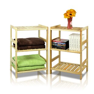 Jorgensen Pine 3 Tier Storage Shelf (Set of 2)
