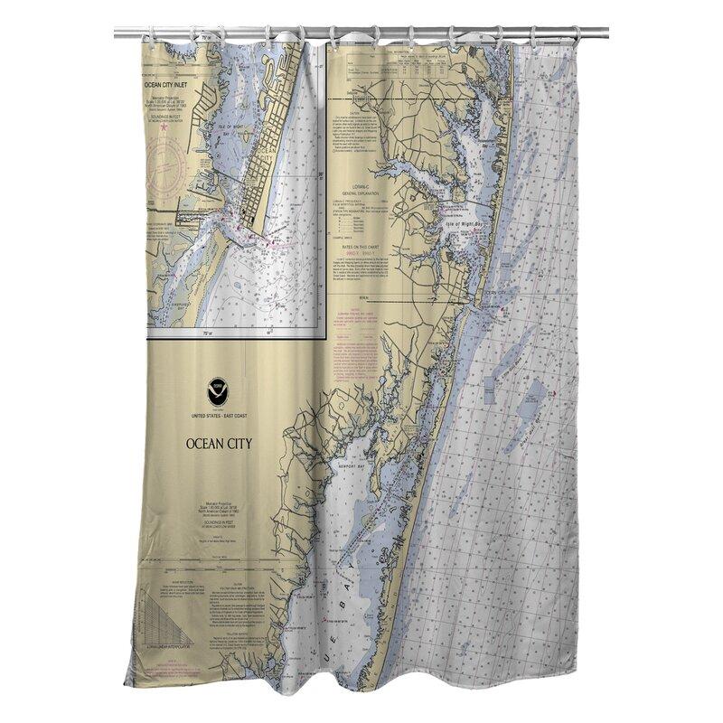 Longshore Tides Viggo Ocean City Md Single Shower Curtain Wayfair