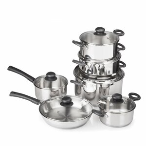 12 Piece Gourmet Cook's Stainless Steel Cookware Set