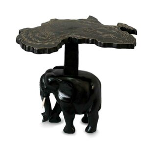 McHenry Elephant Wood End Table