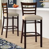 Beechwood Ladder Back Fully Upholstered Seat Bar & Counter Stool by Regal