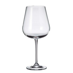 Domerc 22 oz. Crystal Stemmed Wine Glass (Set of 12)