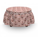 Grunge Nautical Ottoman Slipcover (Set of 2) by East Urban Home