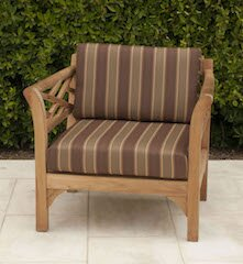 Lorenzo Outdoor Sunbrella Lounge Chair with Cushion