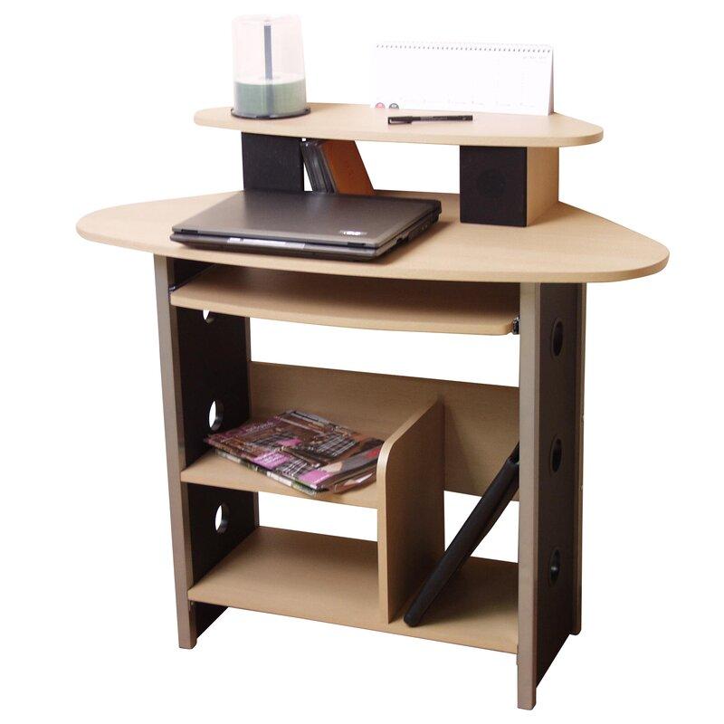 home haus computertisch mit tastaturauszug bewertungen. Black Bedroom Furniture Sets. Home Design Ideas