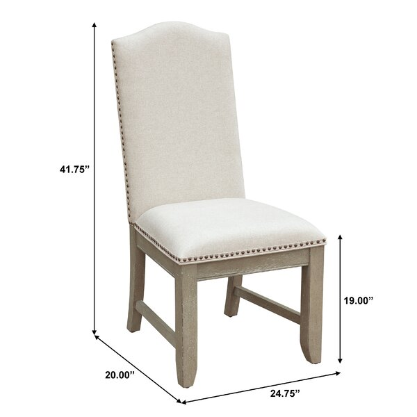 Greyleigh Devers Upholstered Side Chair In Cream Reviews Wayfair