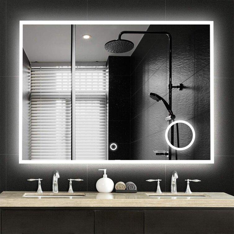 Ivy Bronx Irizarry Led Dimmable Lighted Bathroom Vanity Mirror Reviews Wayfair