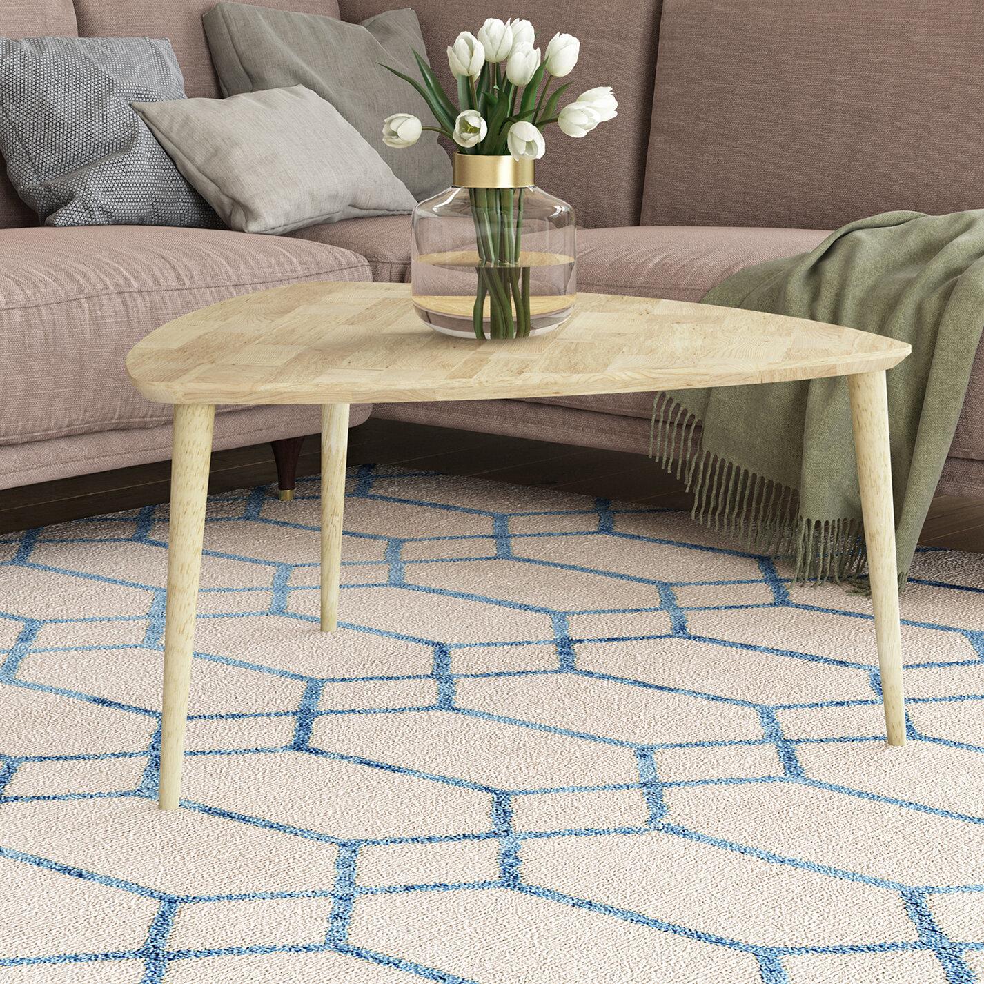 George Oliver Sidonie Solid Wood 3 Legs Coffee Table Wayfair