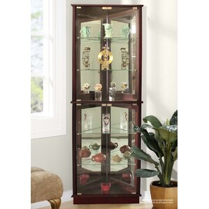 Randalstown Lighted Corner Curio Cabinet. Cherry Randalstown ...