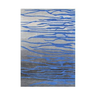 Emmett Hand Tufted Grey/Blue Area Rug