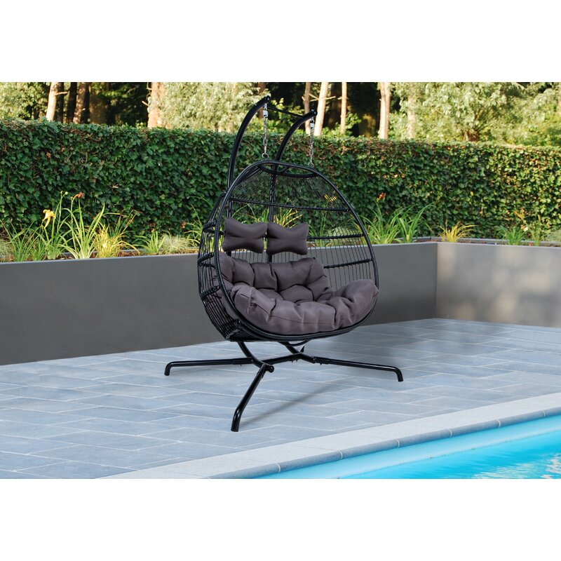 Bungalow Rose Derbyshire Double Swing Chair with Stand ...