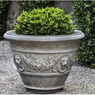 Rosecliff Cast Stone Pot Planter