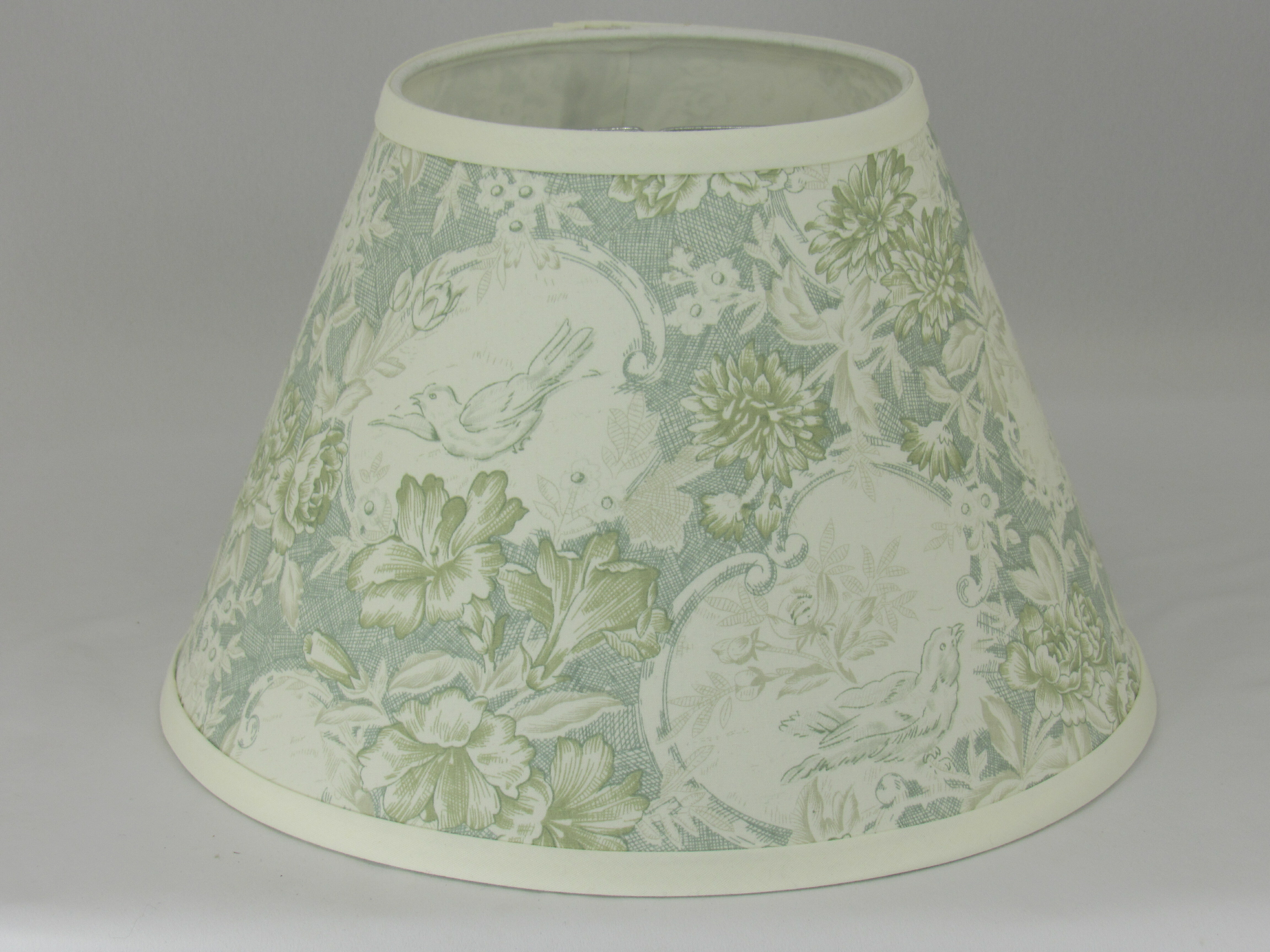 One Allium Way 9 H Cotton Empire Lamp Shade Clip On In Light Green Wayfair
