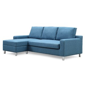 Sectional  sc 1 st  AllModern : denim sectional sofa - Sectionals, Sofas & Couches