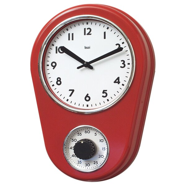 Red Kitchen Clocks | Wayfair