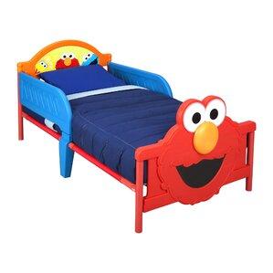 Sesame Street 3D Convertible Toddler Bed by Delta Children