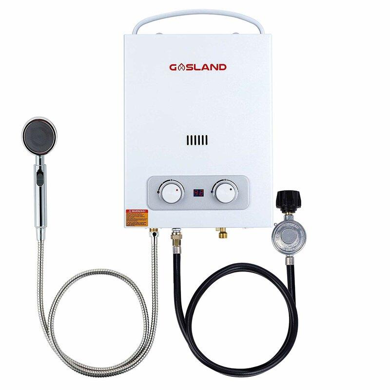 Gasland Outdoors 1 5 Gpm Liquid Propane Tankless Water Heater Wayfair