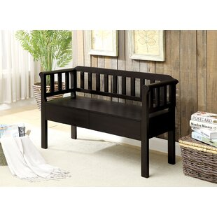 Devyn Slatted Wooden Storage Bench