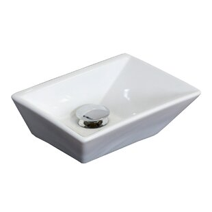 Compare prices Emily Ceramic Rectangular Vessel Bathroom Sink By American Imaginations