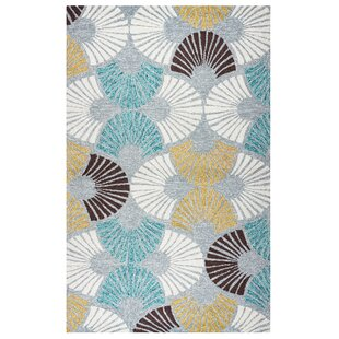 Evangeline Hand-Tufted Geometric Indoor/Outdoor Area Rug by Ebern Designs