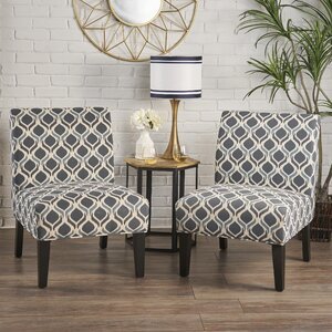 mercury row bernardi slipper chair set of 2 benser kernice