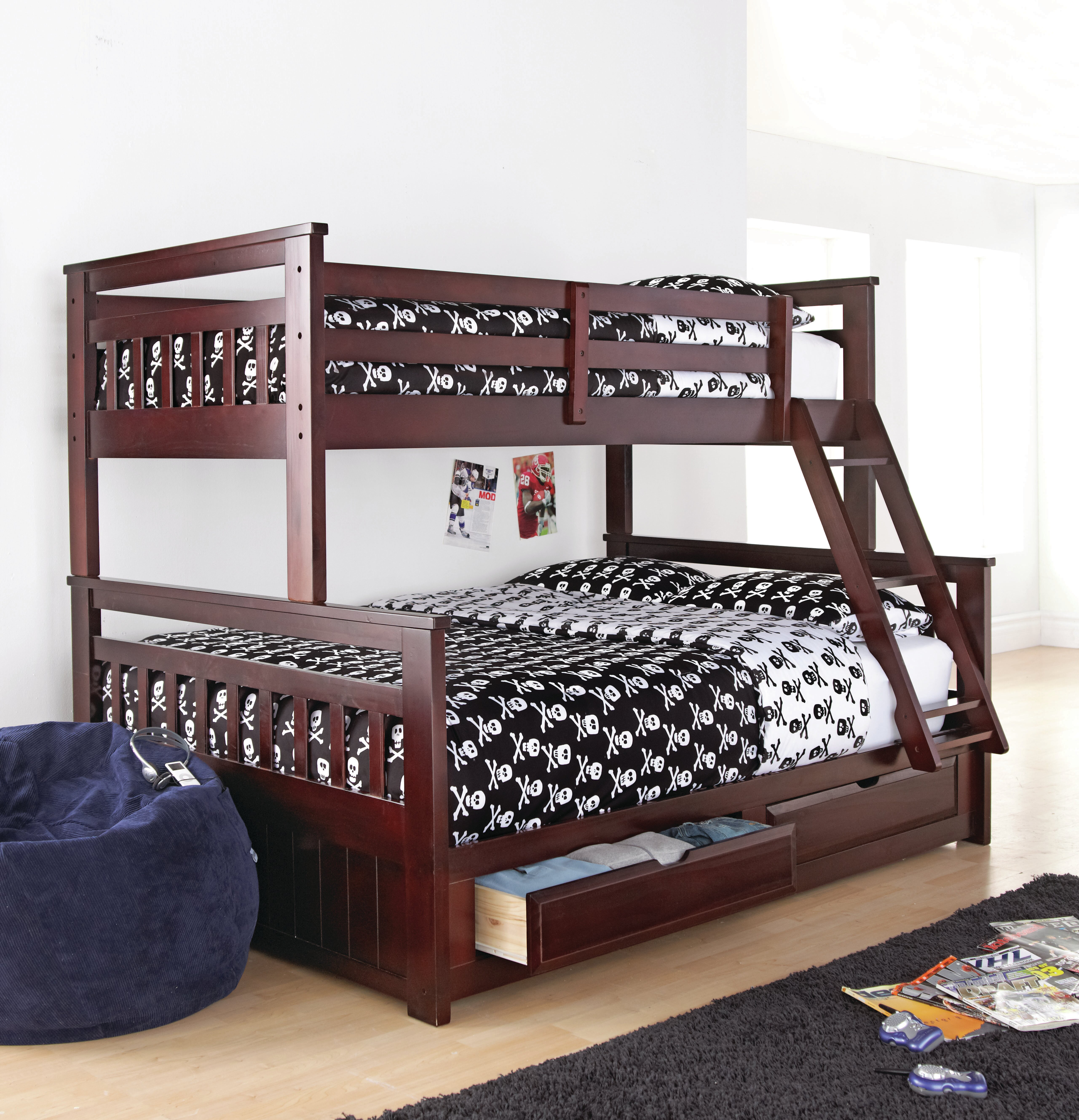 Springdale Twin Over Full Bunk Bed With Drawer