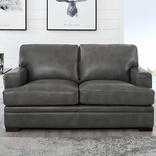 Werner Leather Loveseat by 17 Stories SKU:BD119776 Buy