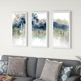 'Waters Edge I' by Carol Robinson - 3 Piece Picture Frame Watercolor Painting Print